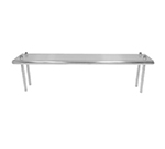 "Advance Tabco TS-10-36 Table Mount Shelf - Single Deck, 36x10"", 18-ga 430-Stainless"