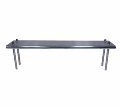 "Advance Tabco TS-12-144 Table Mount Shelf - Single Deck, 144x12"", 18-ga 430-Stainless"