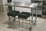 "Advance Tabco TSAG-306RE 72"" Residential Chef Table - 30"" W, 16-ga 430-Stainless"