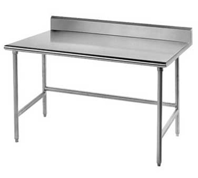 "Advance Tabco TSKG-304RE 48"" Residential Chef Table - 30"" W, 5"" Backsplash, 16-ga 430-Stainless"