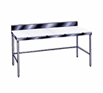 "Advance Tabco TSPS-307 84"" Poly Top Work Table w/  6"" Backsplash & 5/8"" Top, Stainless Base, 30""D"