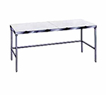 "Advance Tabco TSPT-308 96"" Poly Top Work Table w/  5/8"" Top, Stainless Base, 30""D"