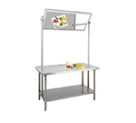 "Advance Tabco VSS-DT-365 60"" Demo Table - Tilting Mirror, Undershelf, All Stainless"