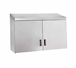 "Advance Tabco WCH-15-48 48"" Stainless Wall Mount Cabinet - Hinged Doors, Shelf"