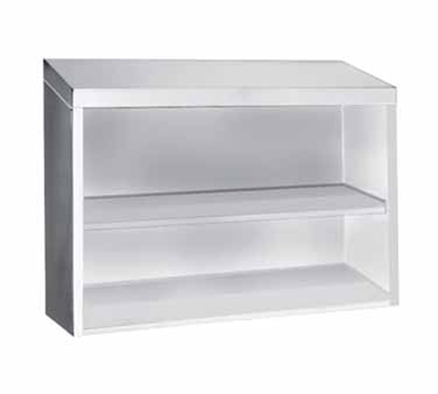 "Advance Tabco WCO-15-60 60"" Stainless Wall Mount Cabinet - Open Front, Shelf"