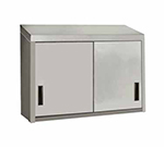"Advance Tabco WCS-15-48 48"" Stainless Wall Mount Cabinet - Sliding Doors, Shelf"