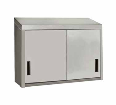"Advance Tabco WCS-15-60 60"" Stainless Wall Mount Cabinet - Sliding Doors, Shelf"