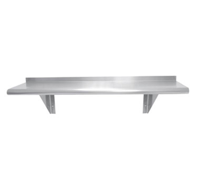 "Advance Tabco WS-15-48 Wall Mount Shelf - 15x48"", 18-ga 430-Stainless"