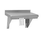 "Advance Tabco WS-12-48CM Wall Mount Shelf with Check Minder - 12x48"", 18-ga 430-Stainless"
