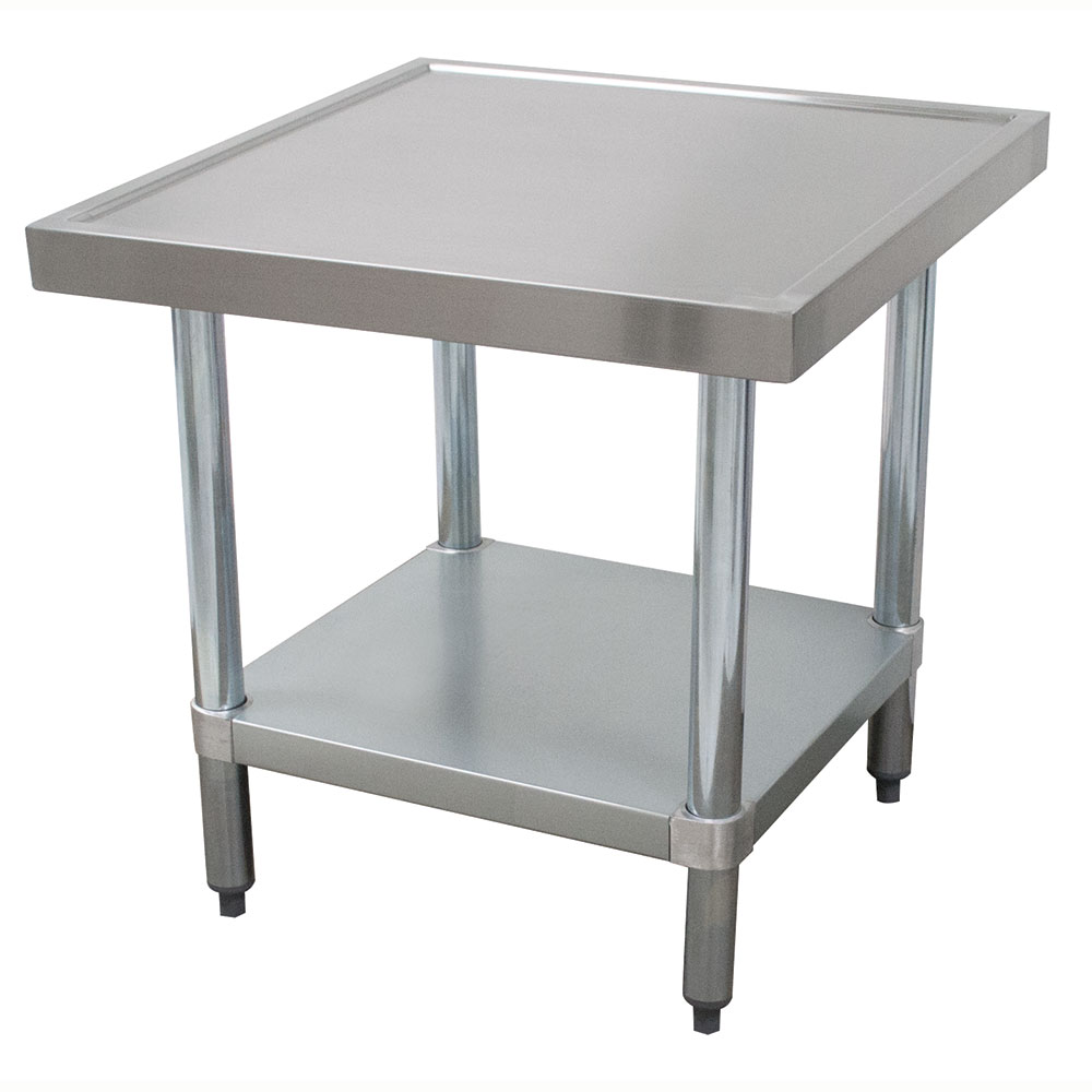 "Advance Tabco AG-MT-242 24"" Mixer Table w/ Galvanized Undershelf Base & Marine Edge, 24""D"