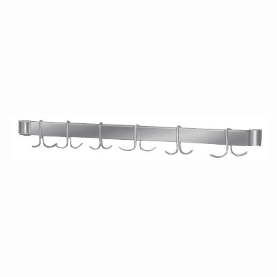 "Advance Tabco AUR-36 36"" Table-Mount Utensil Rack w/ (6) Double Hooks, Stainless Steel"