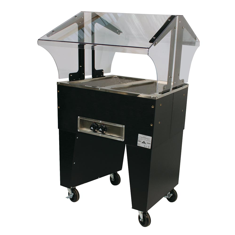 Advance Tabco B2-120-B-S Portable Hot Food Buffet Table w/ Open Base & 2-Stainless Wells, 120 V