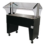 Advance Tabco B3-STU-B Portable Buffet Table w/ Solid Top & Open Base, 3-Pan Size