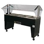 Advance Tabco B4-120-B Portable Hot Food Buffet Table w/ Open Base & 4-Wells, 120 V