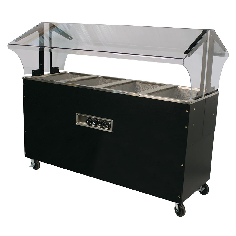 Advance Tabco B4-120-B-SB Portable Hot Food Buffet Table w/ Solid Base & 4-Wells, 120 V
