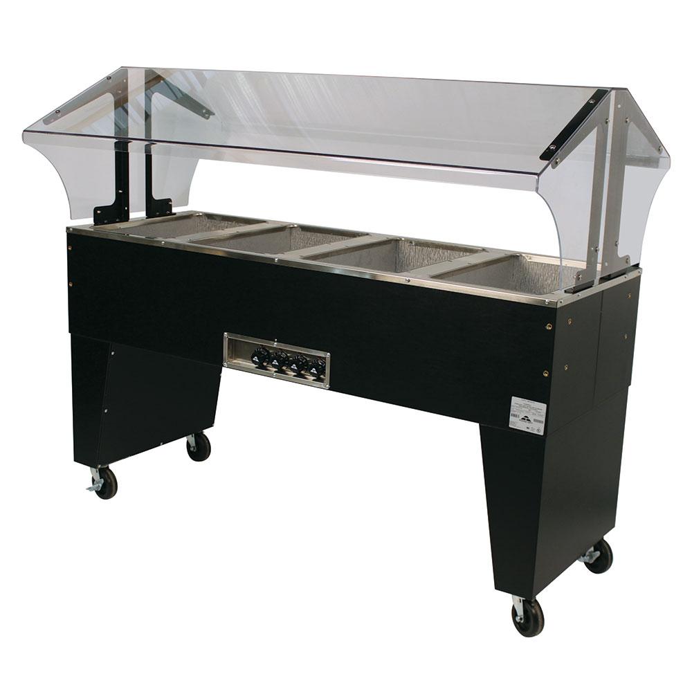 "Advance Tabco B4-240-B 62.5"" Portable Steamtable Hot Food Unit w/ (4) Wells - Sneeze Guard, 208-240v/1ph"