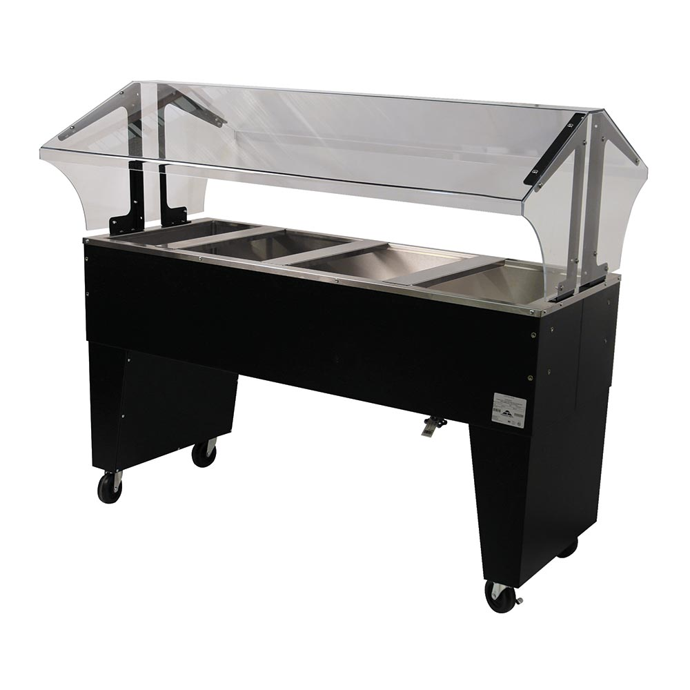 Advance Tabco B4-CPU-B-X Portable Cold Food Buffet Table w/ Open Base, 4-Pan Size, Ice Cooled