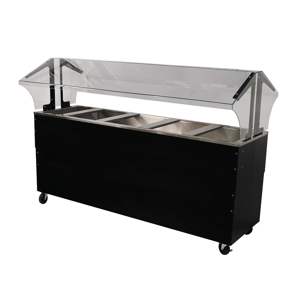 Advance Tabco B5-CPU-B-SB Portable Cold Food Buffet Table w/ Solid Base, 5-Pan Size, Ice Cooled