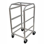 "Advance Tabco BC3 3-Tier Bus Box Cart - 3-Tub Capacity, Curved Top, 20.38x19x40.88"", Aluminum"