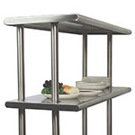 "Advance Tabco CDS-18-132 Adjustable Double Overshelf, 18""W x 132 L, 6"" Overhang On 1 Side"