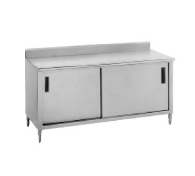 Advance Tabco CF-SS-365 60-in Work Table w/ Cabinet Base 36-in Wide 1-1/2-in Rear Edge Restaurant Supply