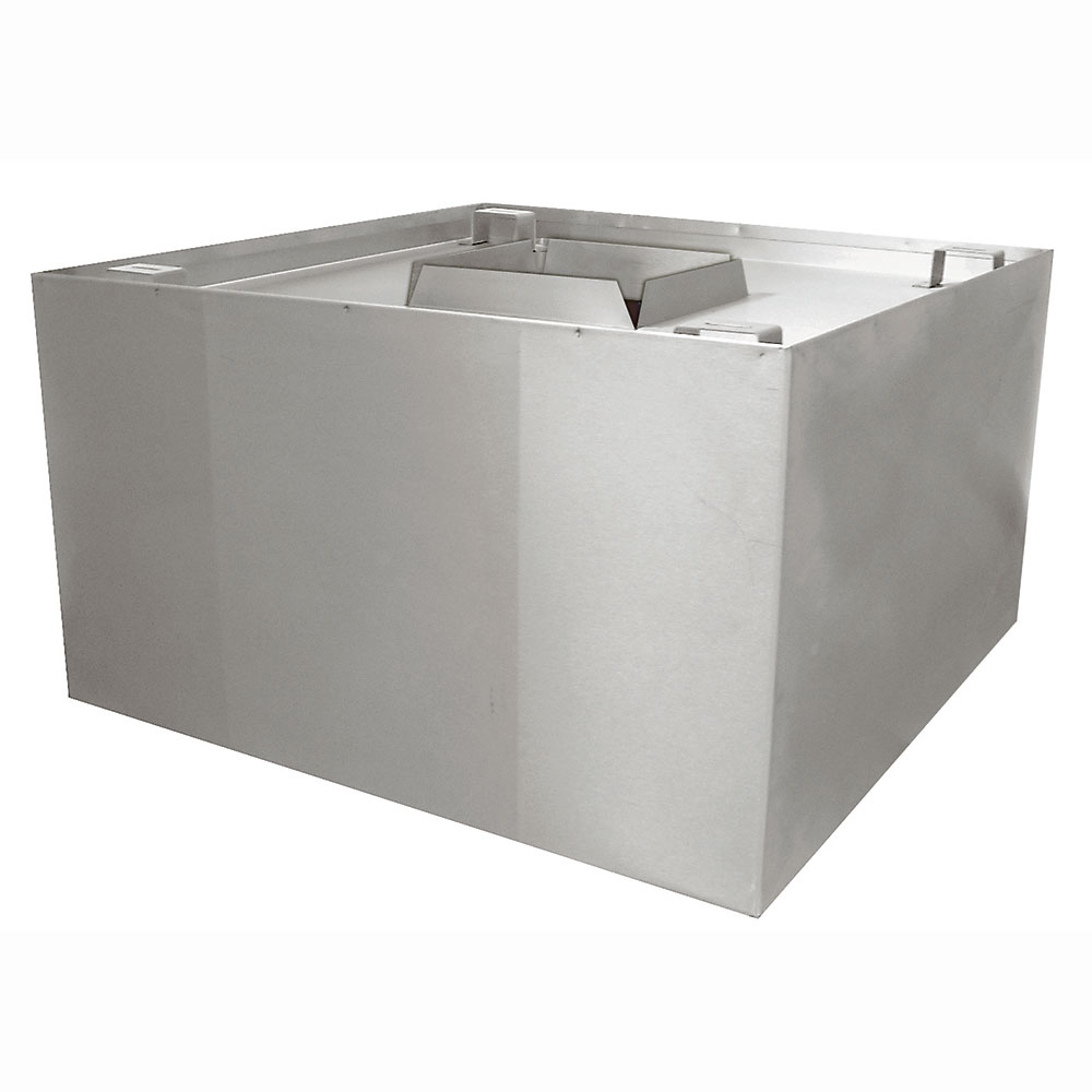 "Advance Tabco CH-4848 Condensate Hood - Inner Bottom Gutter, 20.5x48x48"", Stainless"