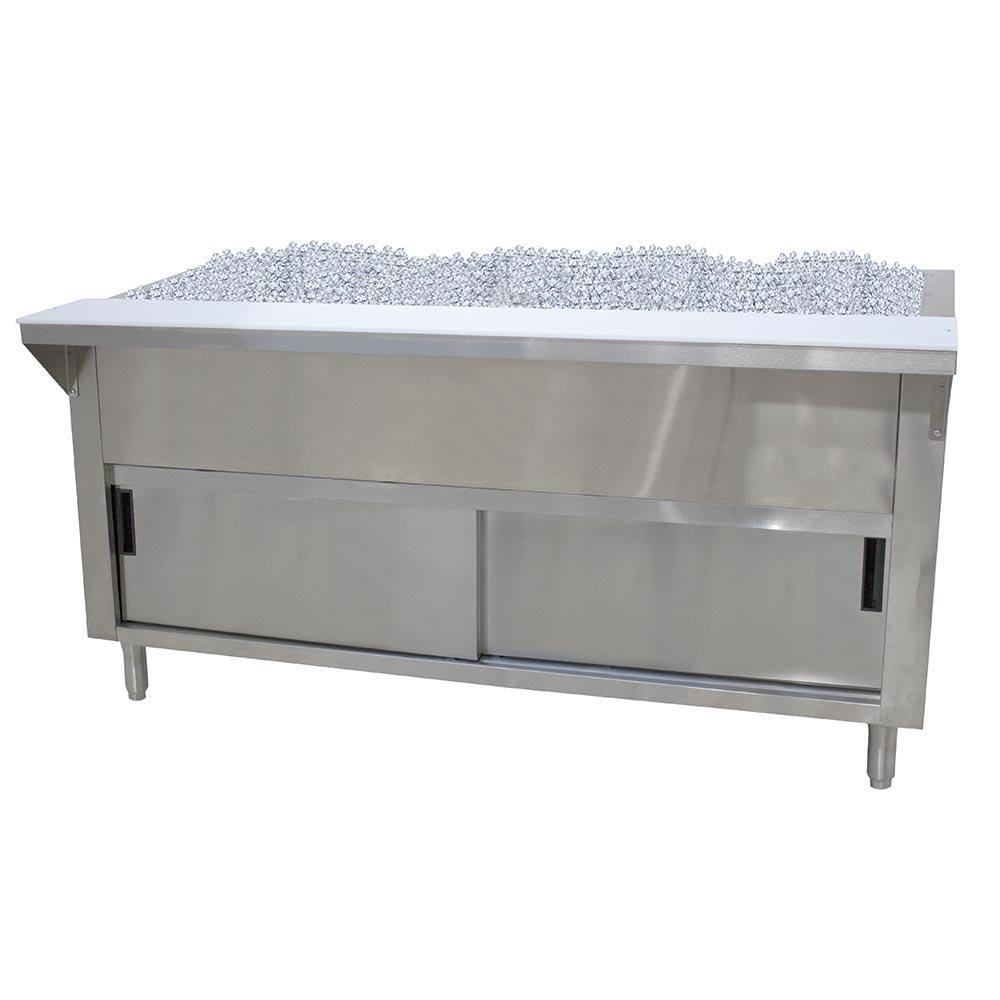 "Advance Tabco CPU-4-DR 34"" Cold Pan Table, Cabinet Base w/ Sliding Doors, 62-3/8"" Long"