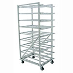 Advance Tabco CR10-162M Mobile Can Rack for #10, #5 - 162-Can Capacity, Aluminum