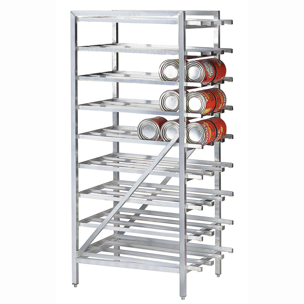 Advance Tabco CR10-162 Stationary Can Rack for #10, #5 - 162-Can Capacity, Aluminum