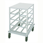 Advance Tabco CR10-54 Low Profile Mobile Can Rack for #10, #5 - 54-Can Capacity, Aluminum