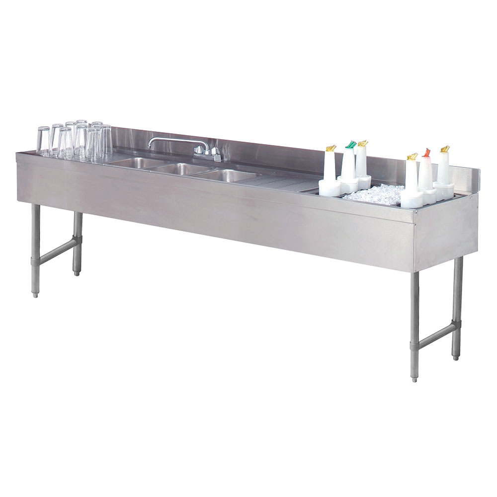 "Advance Tabco CRC-83C-R 96"" 2-Compartment Sink w/ 10""L x 14""W Bowl, 10"" Deep"