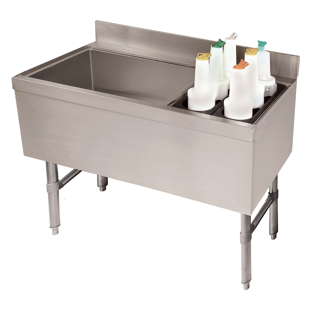 """Advance Tabco CRCI-36L-7 35"""" Ice Chest w/ Coldplate & Right Insulated Bottle Storage Rack"""