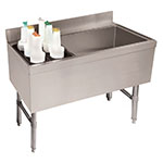"""Advance Tabco CRCI-48R 47"""" Ice Chest w/ Left Insulated Bottle Storage Rack"""