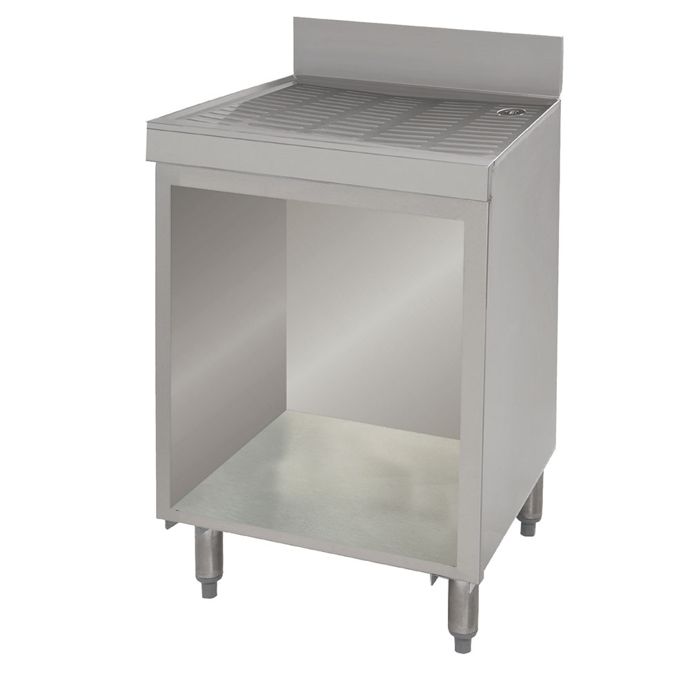 """Advance Tabco CRD-3B 36"""" Bar Type Modular Drainboard w/ Open Cabinet Base, Stainless"""