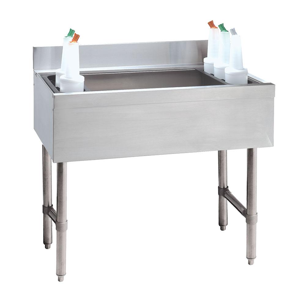 "Advance Tabco CRI-12-30-X 30"" Cocktail Unit w/ 140-lb Ice Capacity & (2) 3-Pak Bottle Racks"