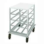 Advance Tabco CRPL10-54 Low Profile Mobile Can Rack for #10, #5 - 54-Can Capacity, Poly Top, Aluminum