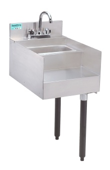 Advance Tabco SL-RS-15 Slimline Underbar Add-On Unit, 15 in Blender Station with Dump Sink