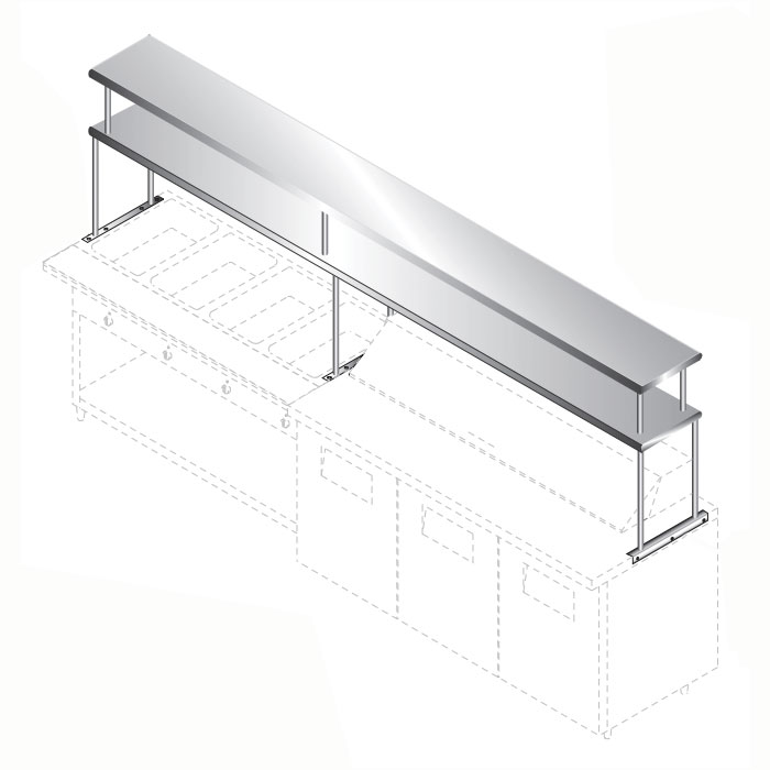 Advance Tabco CU-18-132-2 Double Tier Shelf, 18x132
