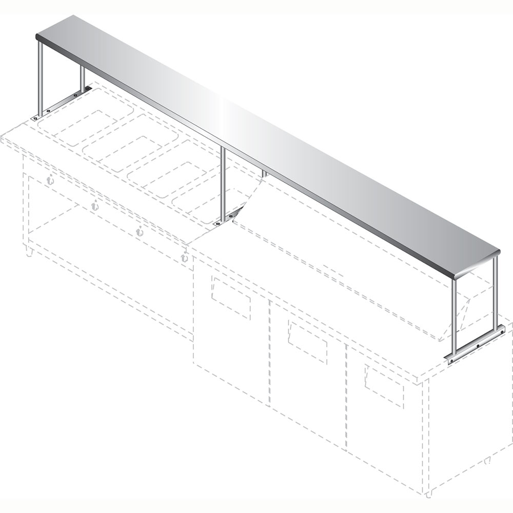 """Advance Tabco CU-18-96 96"""" Solid Table Mounted Shelving"""