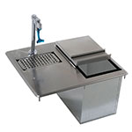 Advance Tabco D-24-WSIBL Bar King Ice & Water Unit, Drop-In, 23 lb Ice Capacity