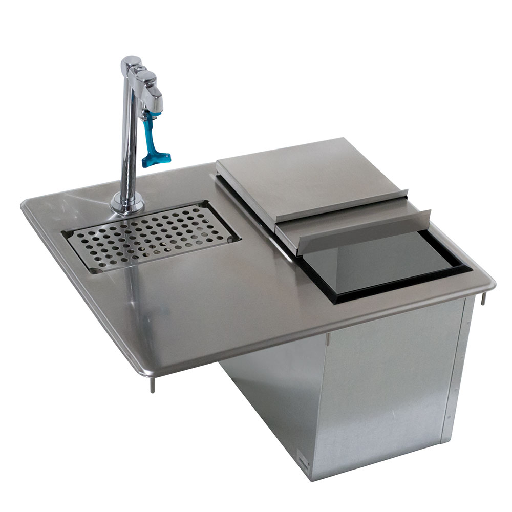 Advance Tabco D-24-WSIBL-X Bar King Ice & Water Unit, Drop-In, 23 lb Ice Capacity