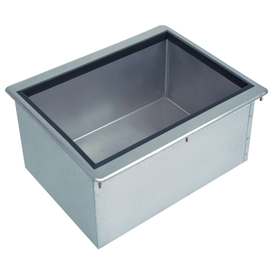 """Advance Tabco D36IBL 75-lb Insulated Drop-in Ice bin w/ 1"""" Drain, Stainless Cover"""