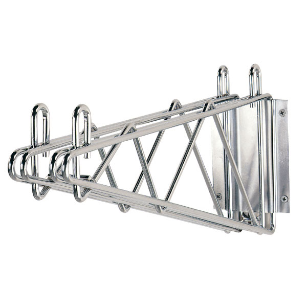 "Advance Tabco DB-18 18"" Double Mount Wall Bracket, Chrome"