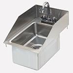 """Advance Tabco DI-1-10SP-EC-X 13"""" 1-Compartment Sink w/ 10"""" x 14"""" x 10"""" Bowl"""