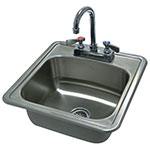 "Advance Tabco DI-1-1515 Drop in Sink w/ 12.25x10.25x5.5"" Bowl & Gooseneck Faucet, 20-ga 304-Stainless"