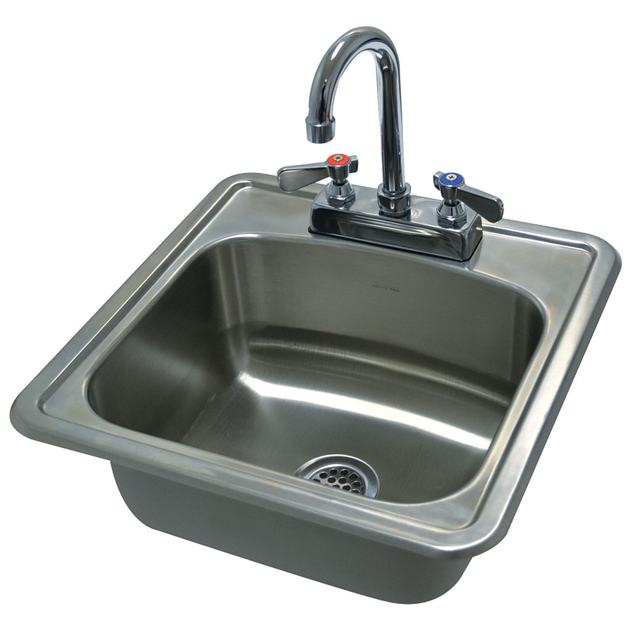 "Advance Tabco DI-1-1515 (1) Compartment Drop-in Sink - 12.25"" x 10.25"", Drain Included"