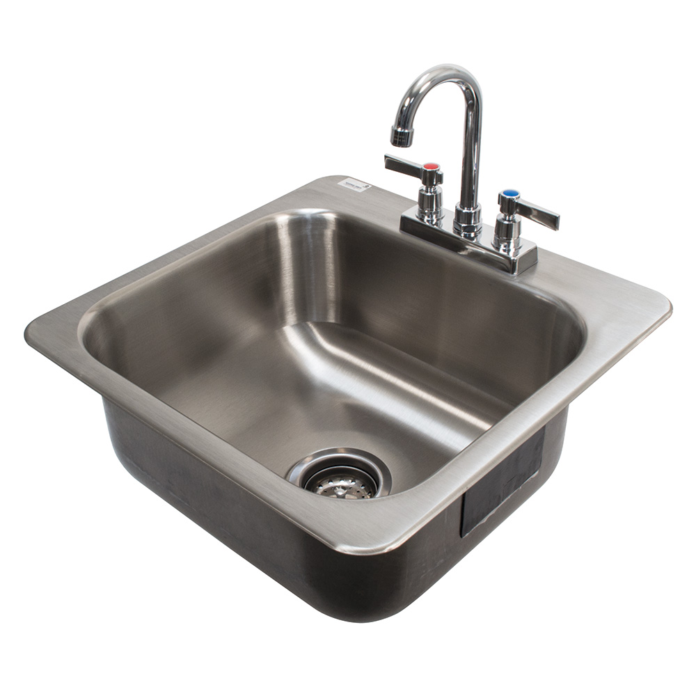 "Advance Tabco DI-1-168 (1) Compartment Drop-in Sink - 16"" x 14"", Drain Included"
