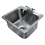 "Advance Tabco DI-1-2012 Drop-In Sink - (1) 20x16x12"" Bowl, Deck Mount Swing Spout, 18-ga 304 Stainless"