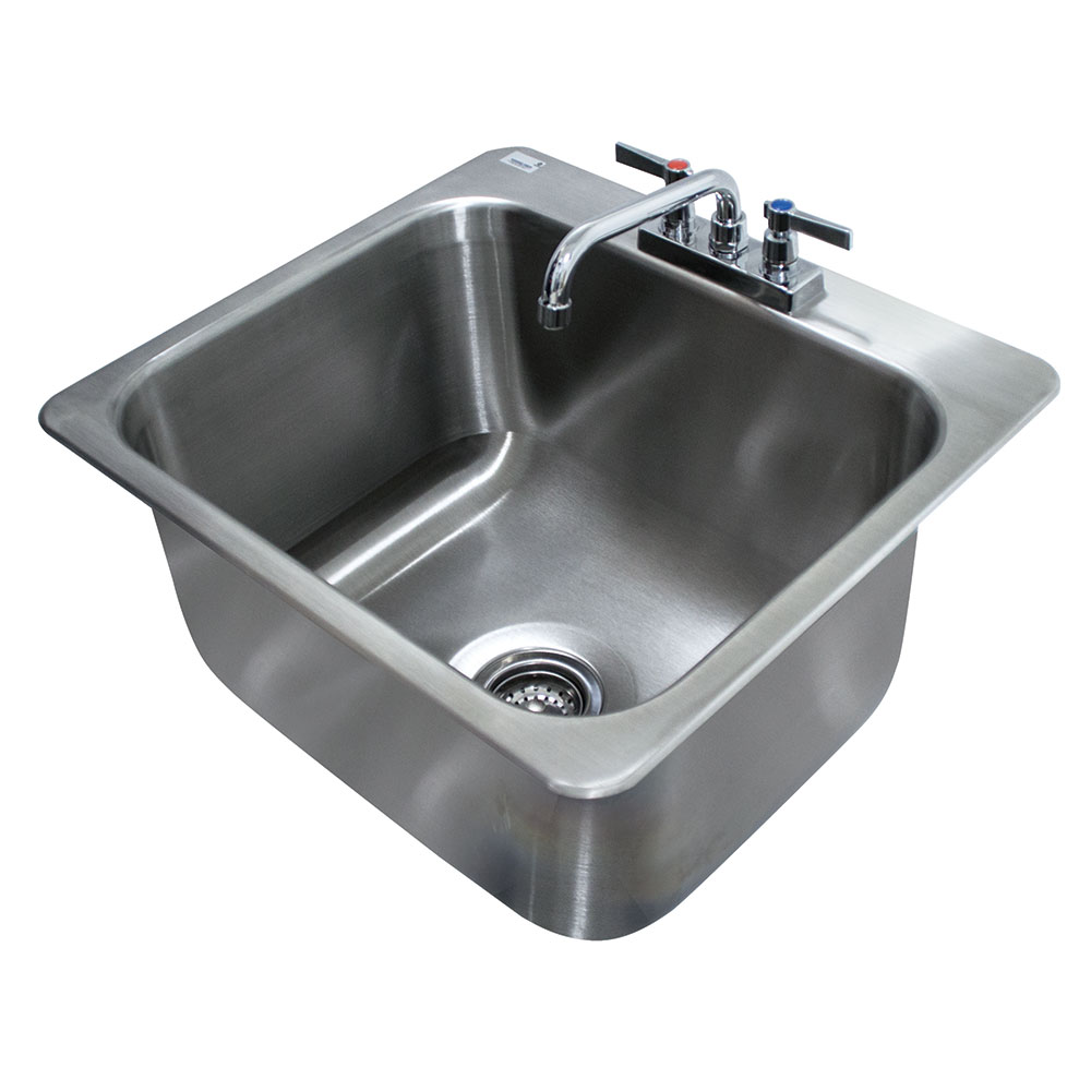 "Advance Tabco DI-1-2012 (1) Compartment Drop-in Sink - 20"" x 16"", Drain Included"