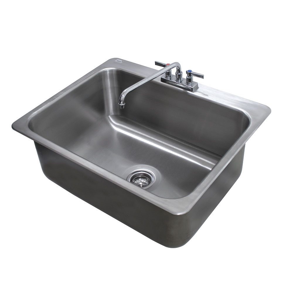 "Advance Tabco DI-1-2812 (1) Compartment Drop-in Sink - 28"" x 20"", Drain Included"